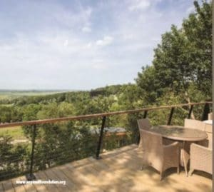 Treehouse view at Port Lympne Nature Reserve