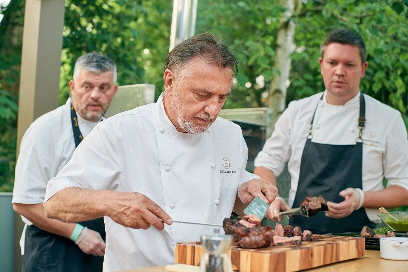 Raymond Blanc live cookery session Le Sunflower