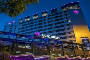 Park Regis external night